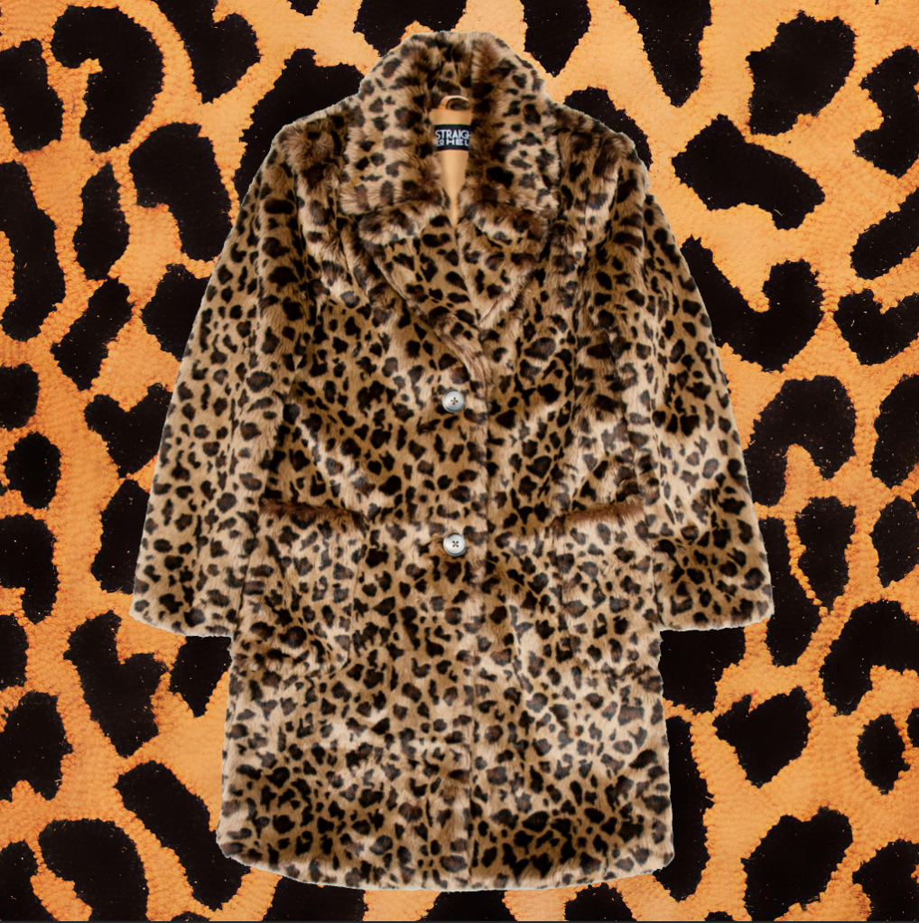 "STRAIGHT TO HELL ""STEVIE"" LEOPARD FUR COAT (WOMEN'S)"