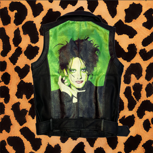 "LEA WILLIAMS ""ROBERT SMITH"" HAND PAINTED VEST (FITS WOMENS MEDIUM/MENS SMALL)"