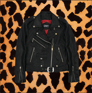 "STRAIGHT TO HELL ""COMMANDO"" LIGHTWEIGHT LEATHER JACKET (WOMENS)"
