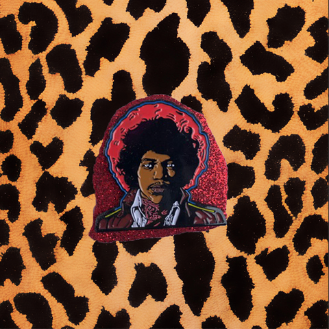 JIMI HENDRIX BOTH SIDES OF THE SKY ENAMEL PIN'