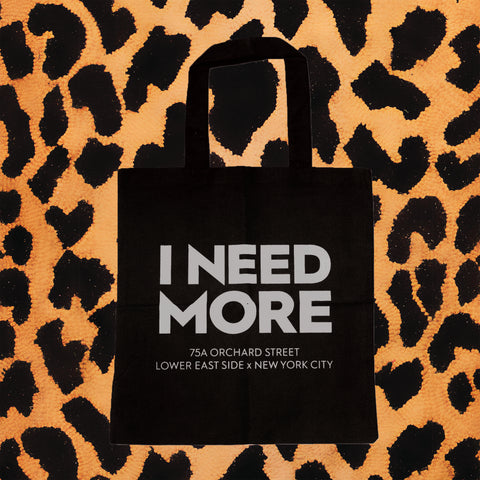 I NEED MORE TOTE BAG (BLK/SLVR)
