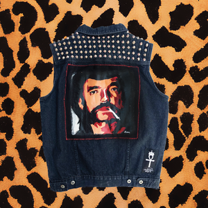 MENS BARB WIRE DOLLS LEMMY DENIM VEST