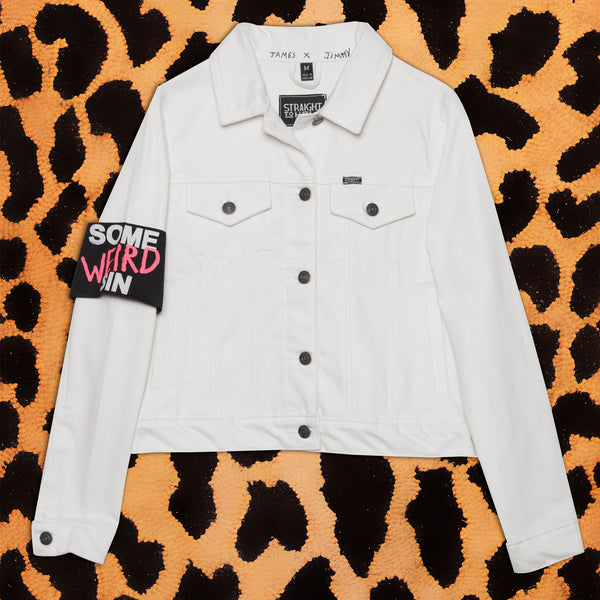 SOME WEIRD SIN 'ENOUGH' WHITE DENIM JACKET (WOMENS) - I NEED MORE