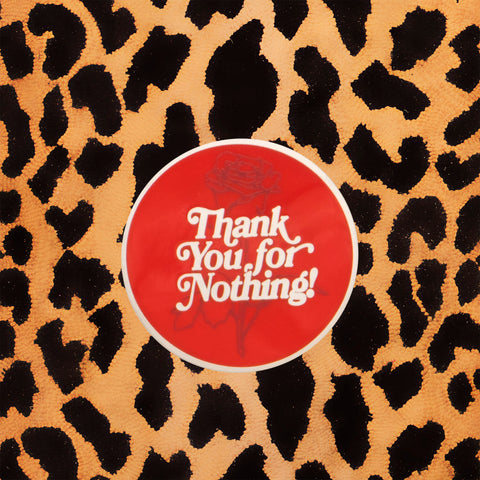 'THANK YOU FOR NOTHING' ENAMEL PIN
