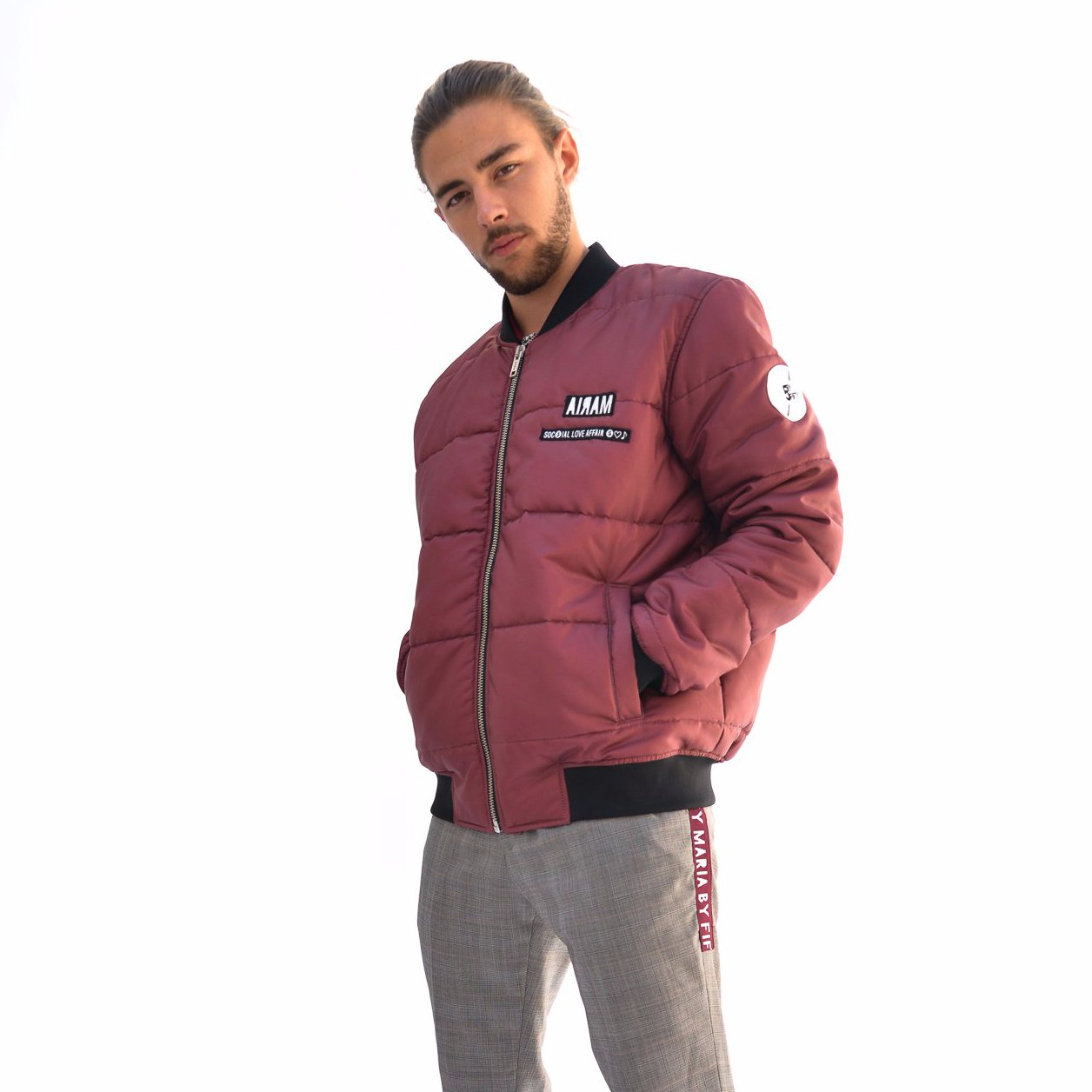 Bomber Puffy Bordeaux