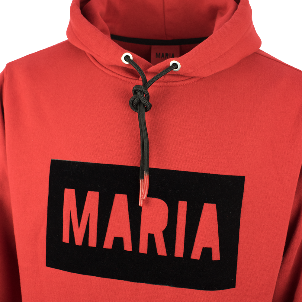 Hoodie Red Box Black