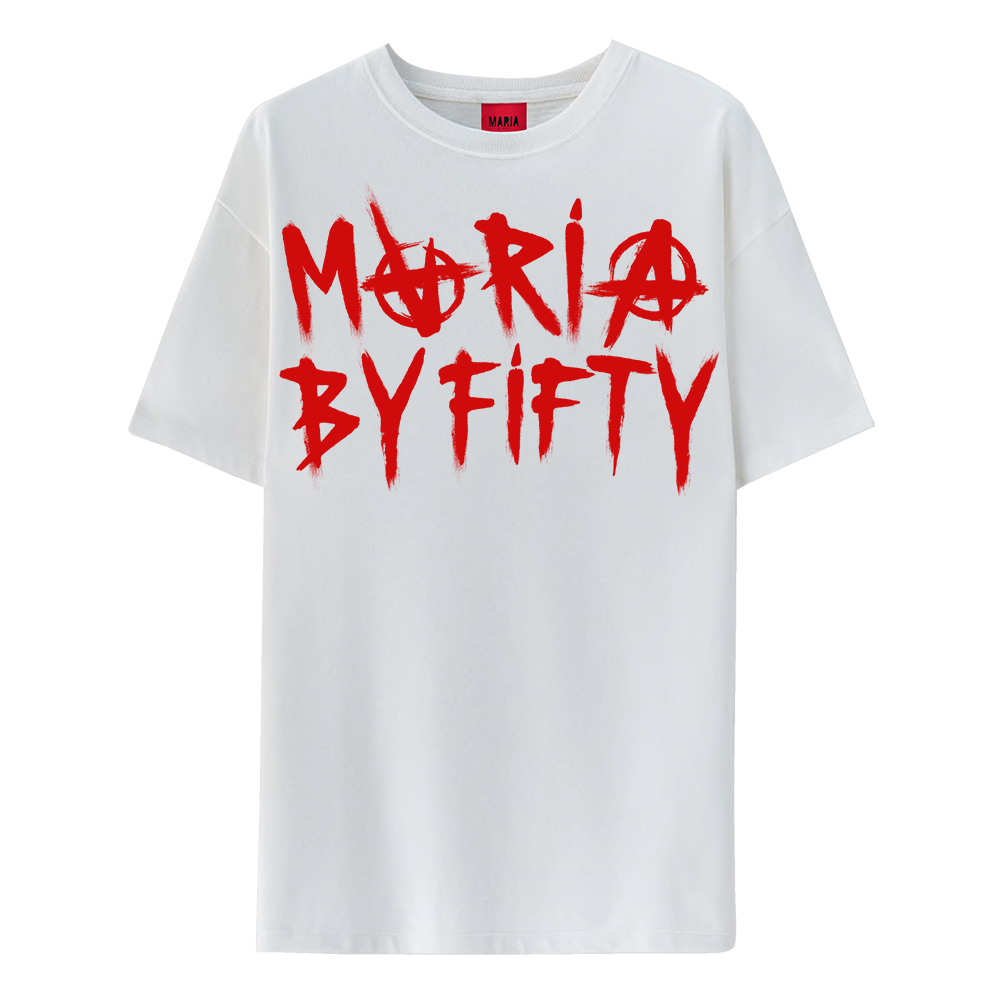 T-shirt White Anarchy Red