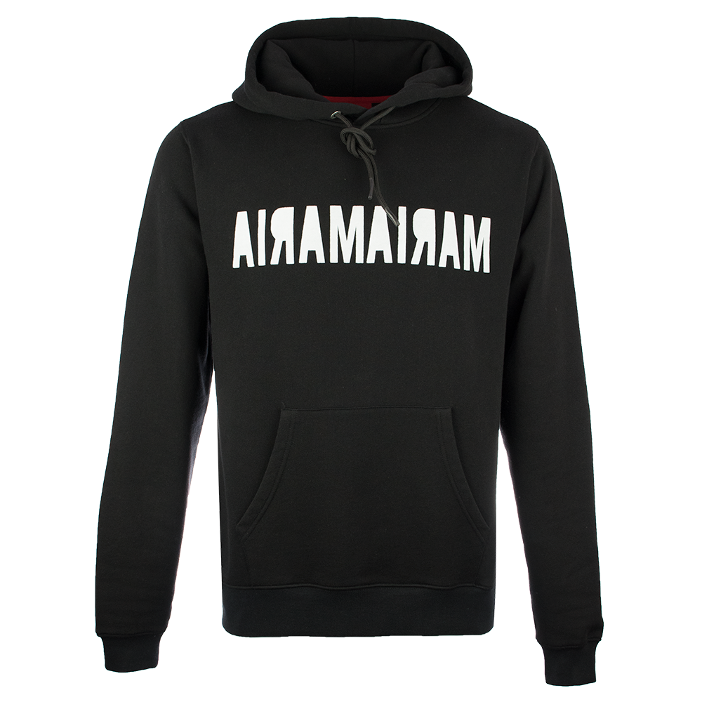 Hoodie Black Double Inverse White