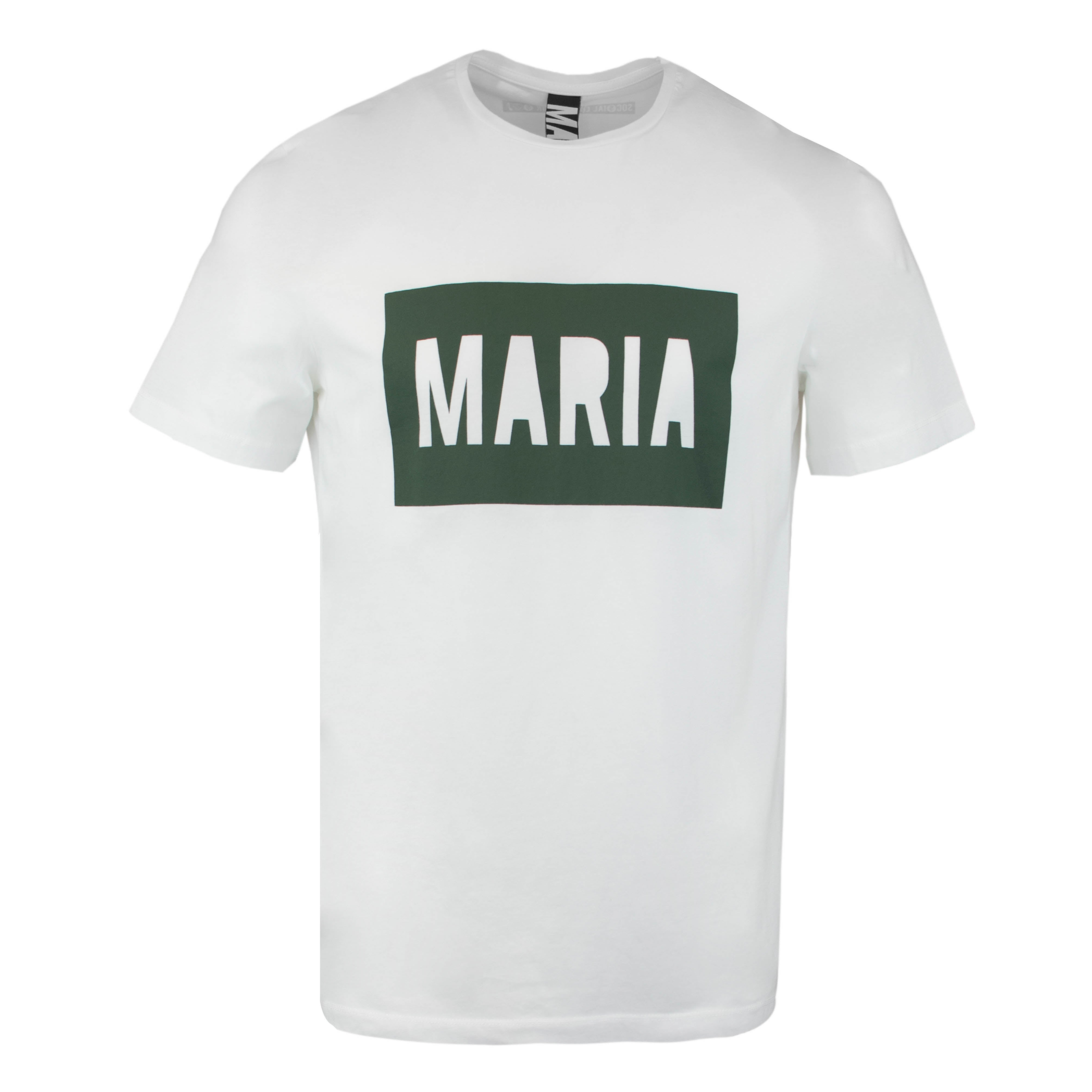 T-Shirt White Box Green