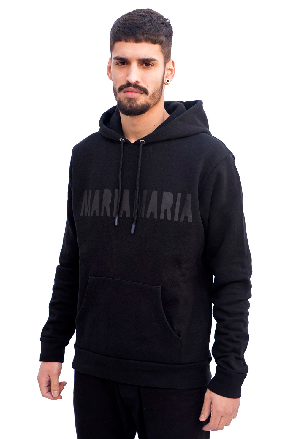 SS19 MARIA by fifty Hoodie Black W2 Black front