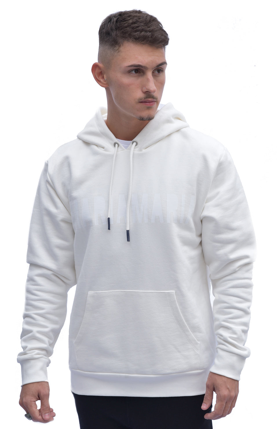 SS19 MARIA by fifty Hoodie White W2 White front