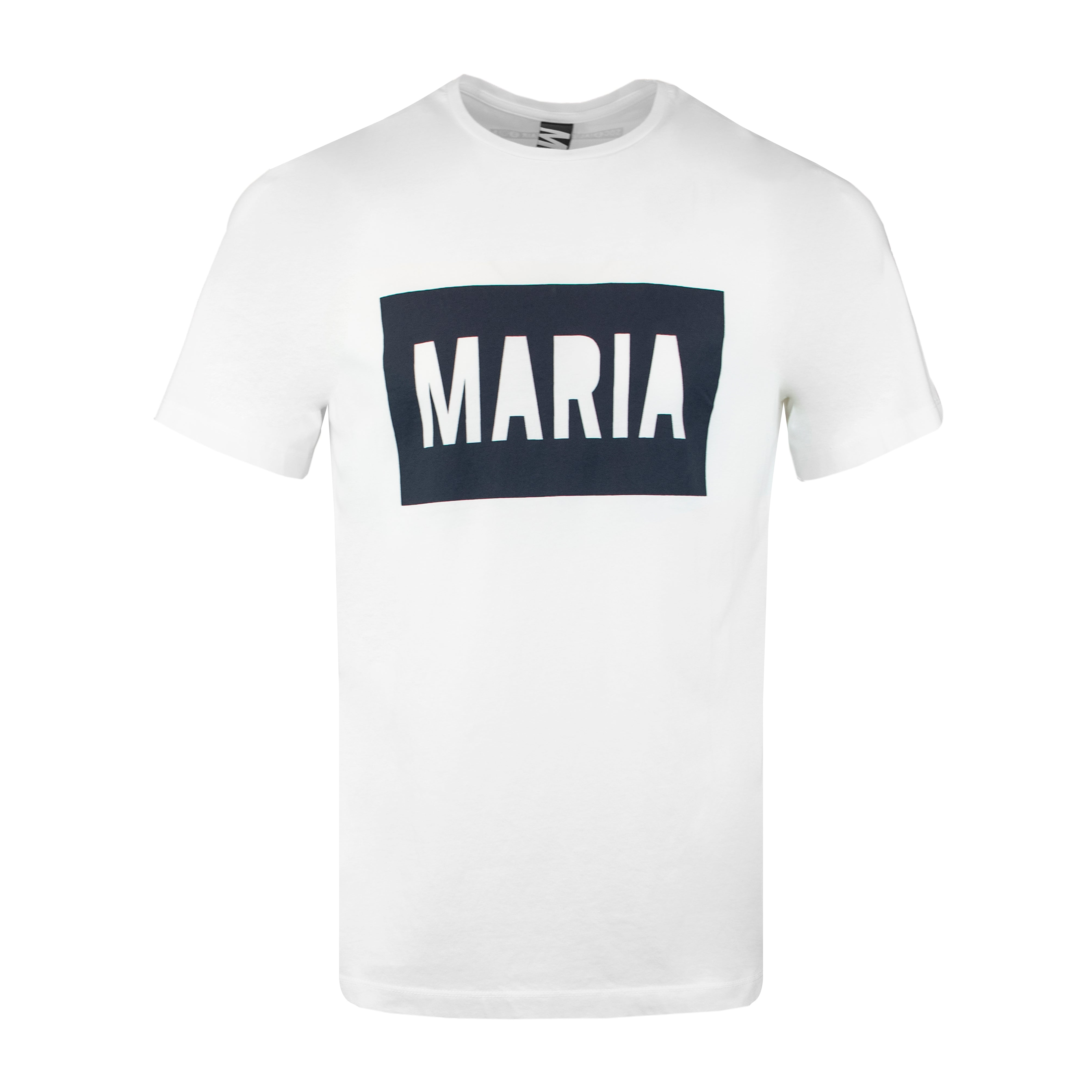 T-Shirt White Box Navy