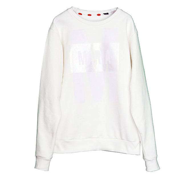 Sweatshirt White Big M White