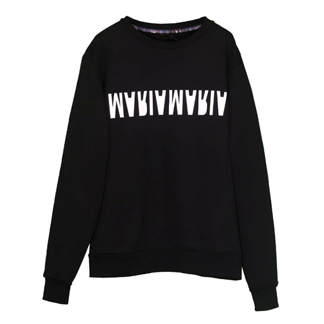 Sweatshirt Black W2 Inverse White
