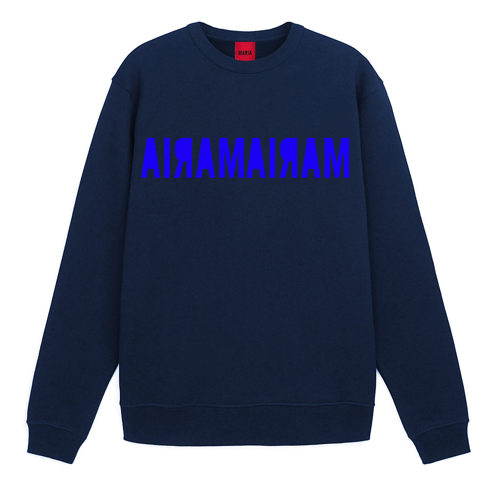Sweatshirt Navy Double Inverse Blue