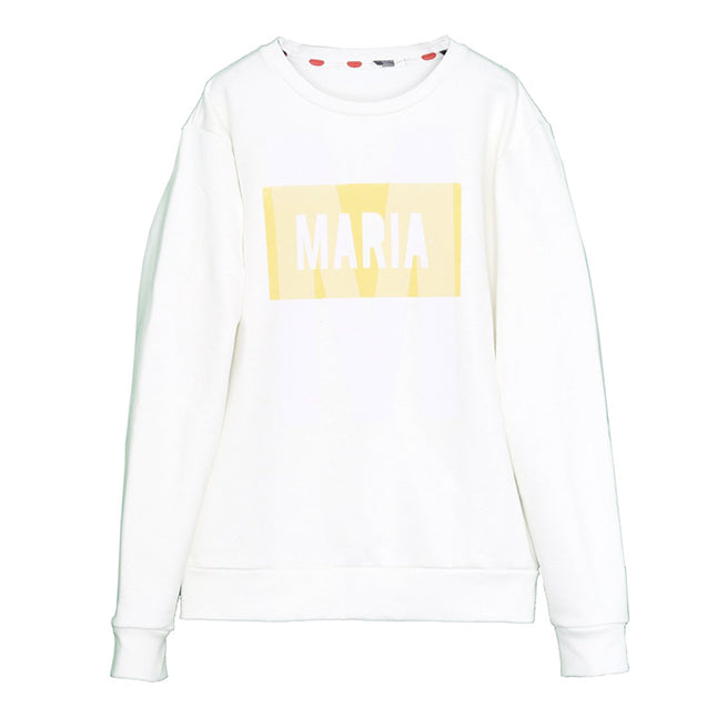 SWEATSHIRT WHITE BIG M YELLOW