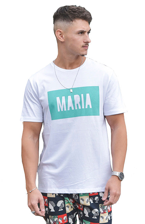 SS19 MARIA by fifty Tee White Box Green front