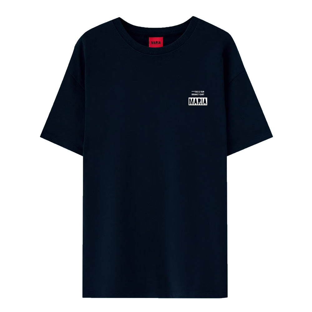 T-shirt Navy Your Organic