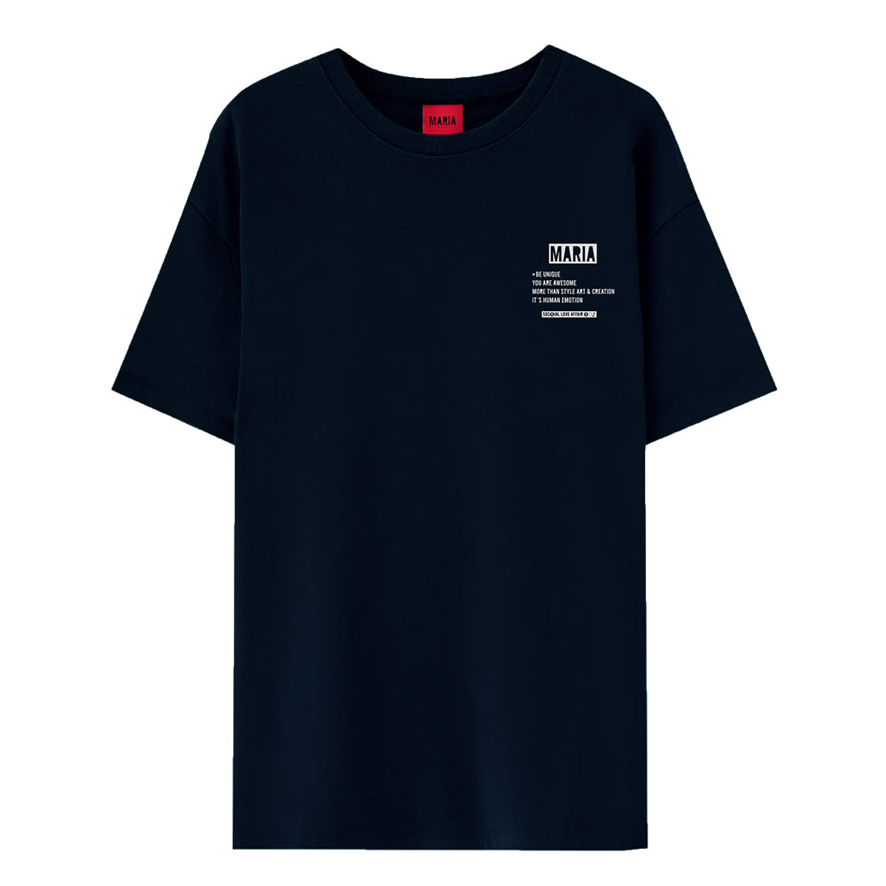 T-shirt Navy Be Unique