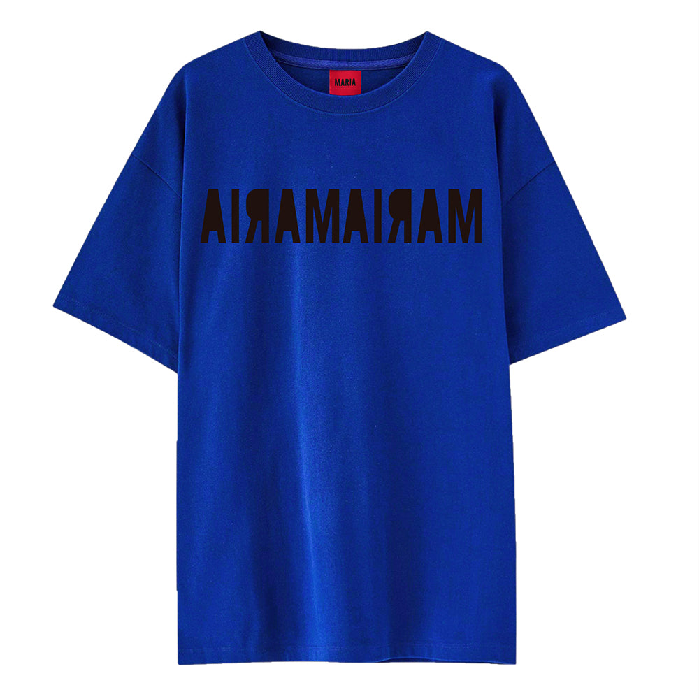 T-shirt Blue Double Inverse Black
