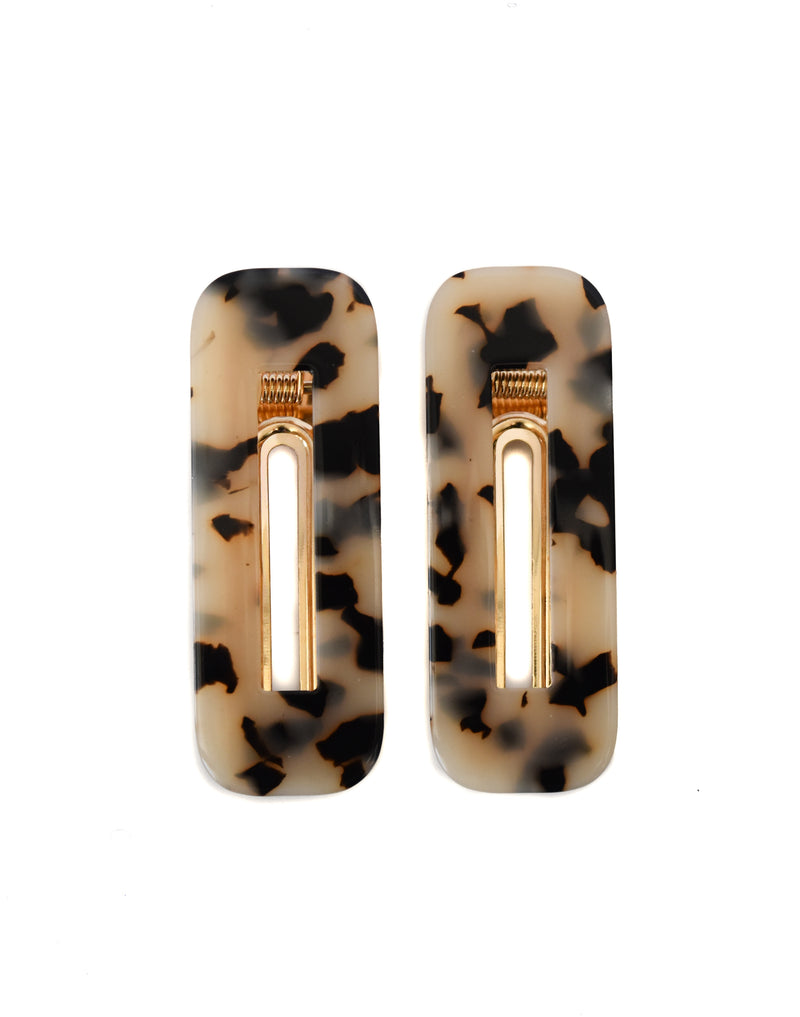 Beige Clips Rectangle