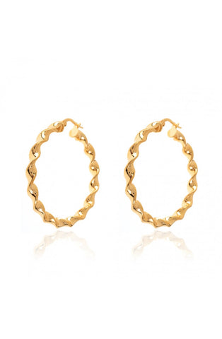 Carrie Hoops Gold