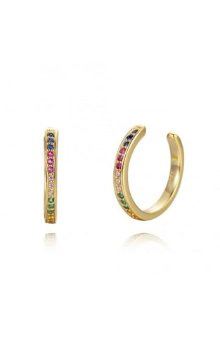 Rainbow Ear Cuffs