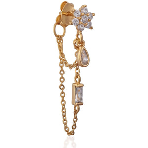 Gia Chain Stud Gold - SINGLE