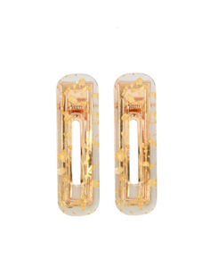 Gold Clips Rectangle