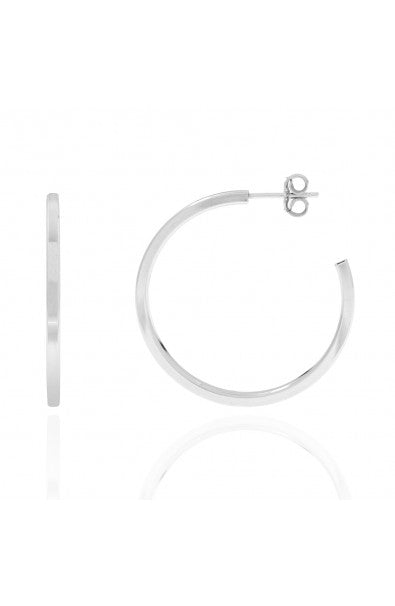 Lessia Hoops Silver
