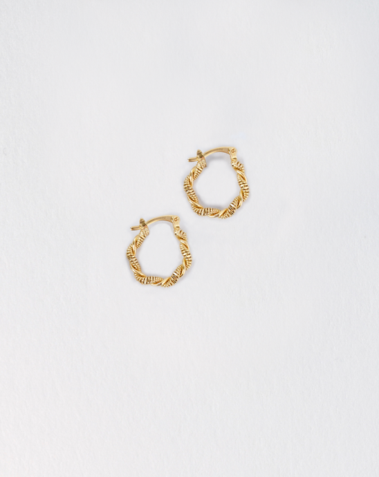 Mini Twisted Hoops - PRE ORDER