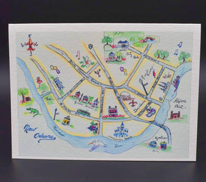 New Orleans Map Notecard