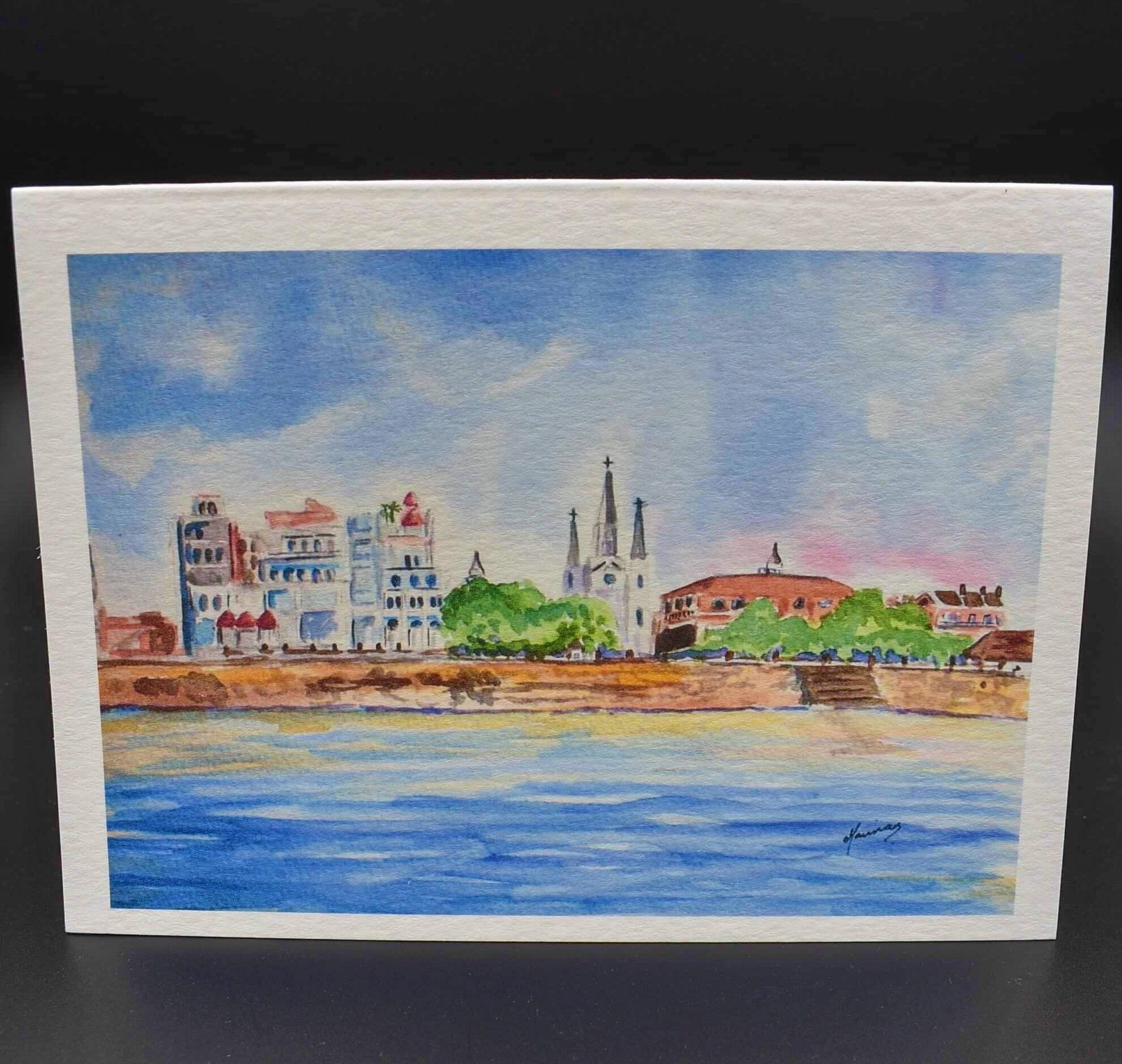 New Orleans Riverfront Notecard