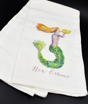 Red Mermaid Kitchen Towel
