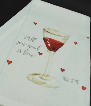 Love & Wine Kitchen Towel