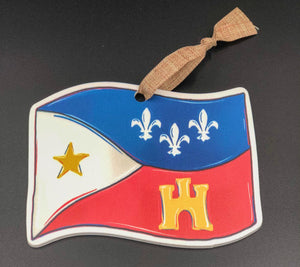Acadian Flag Ornament