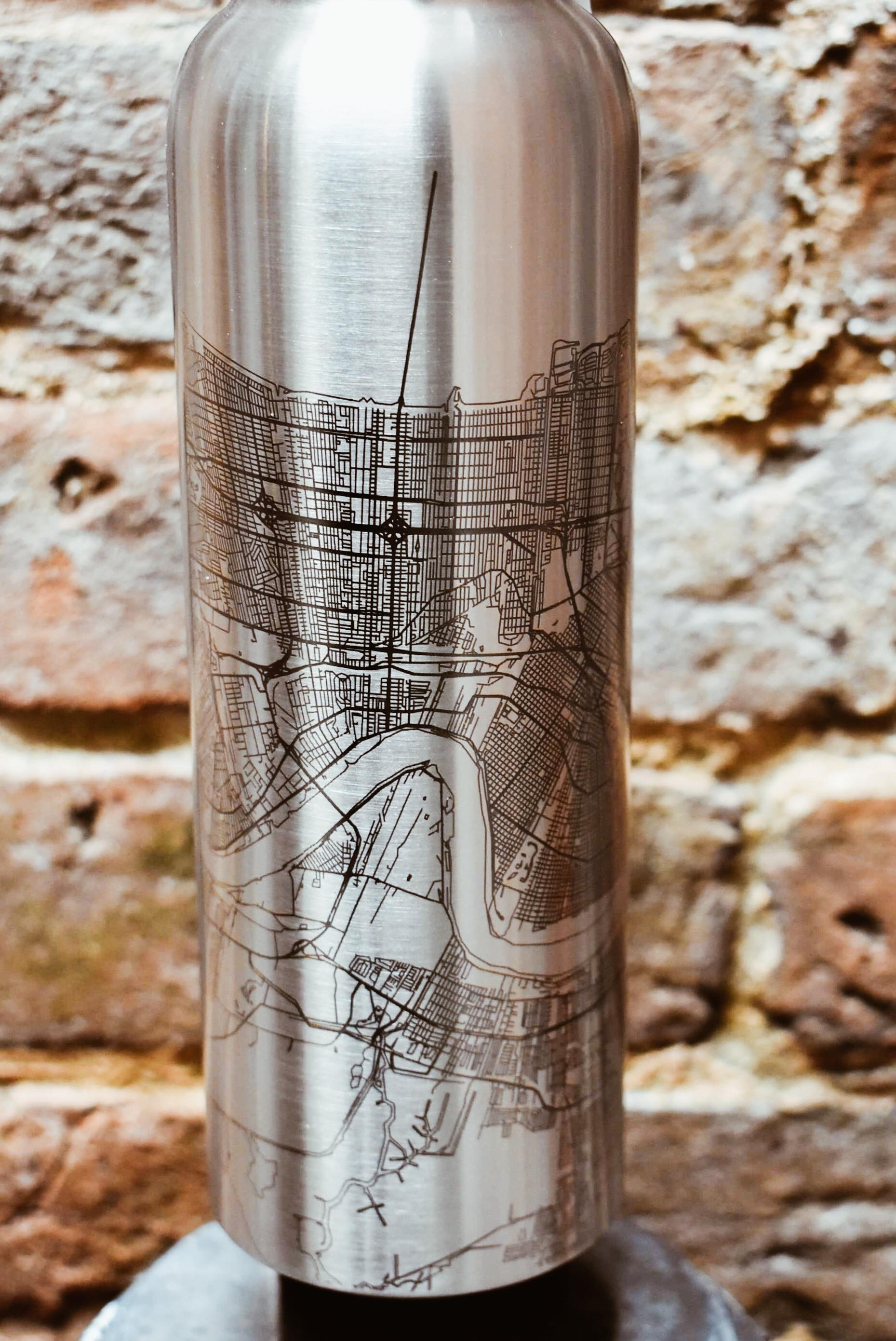 New Orleans Map Bottle
