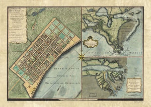 French Quarter & Delta Map - 1720