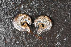 Spratling Silver Fish Earrings