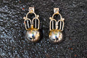 Spratling Silver Crown Earring