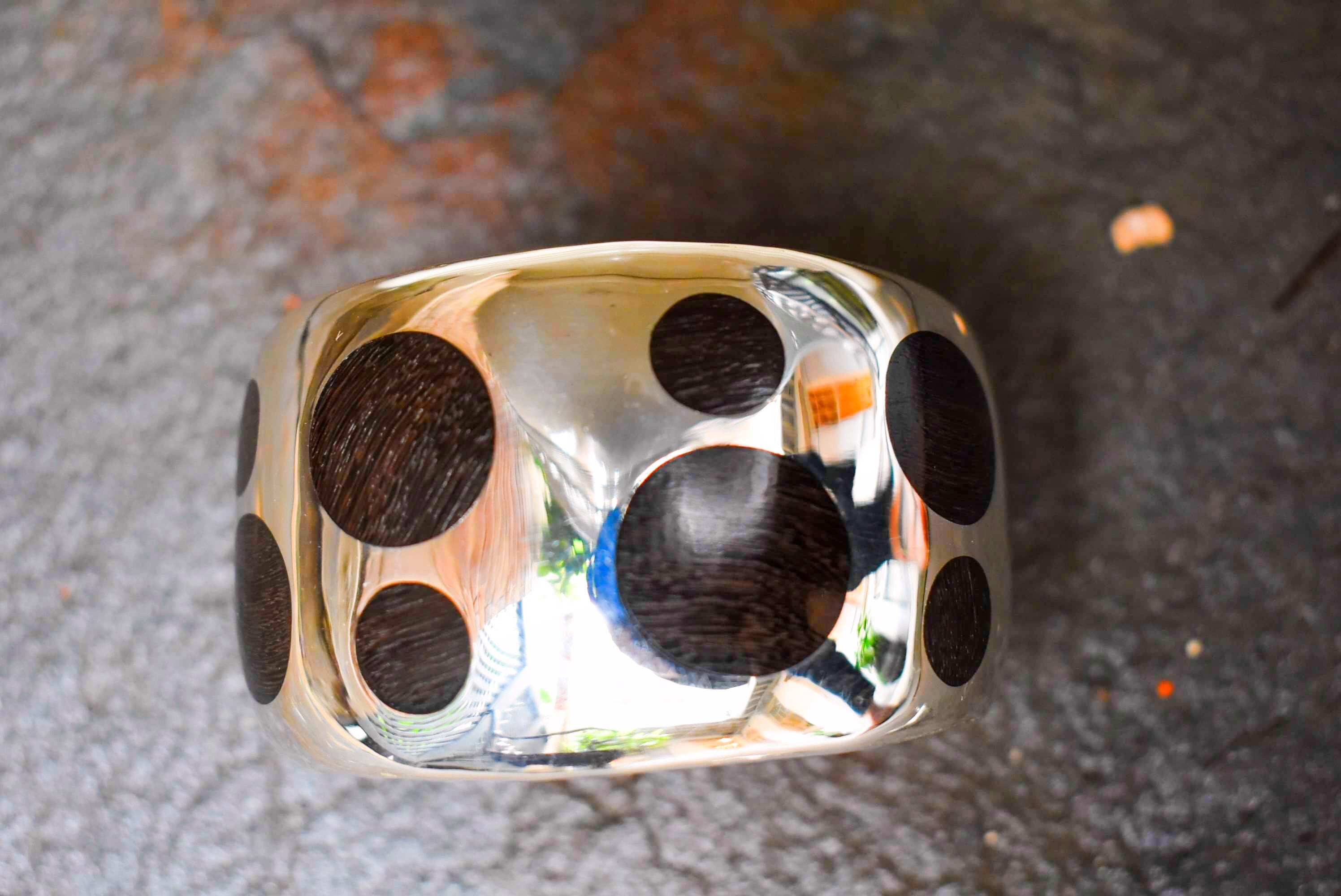 Spratling Silver and Ebony Disc Cuff
