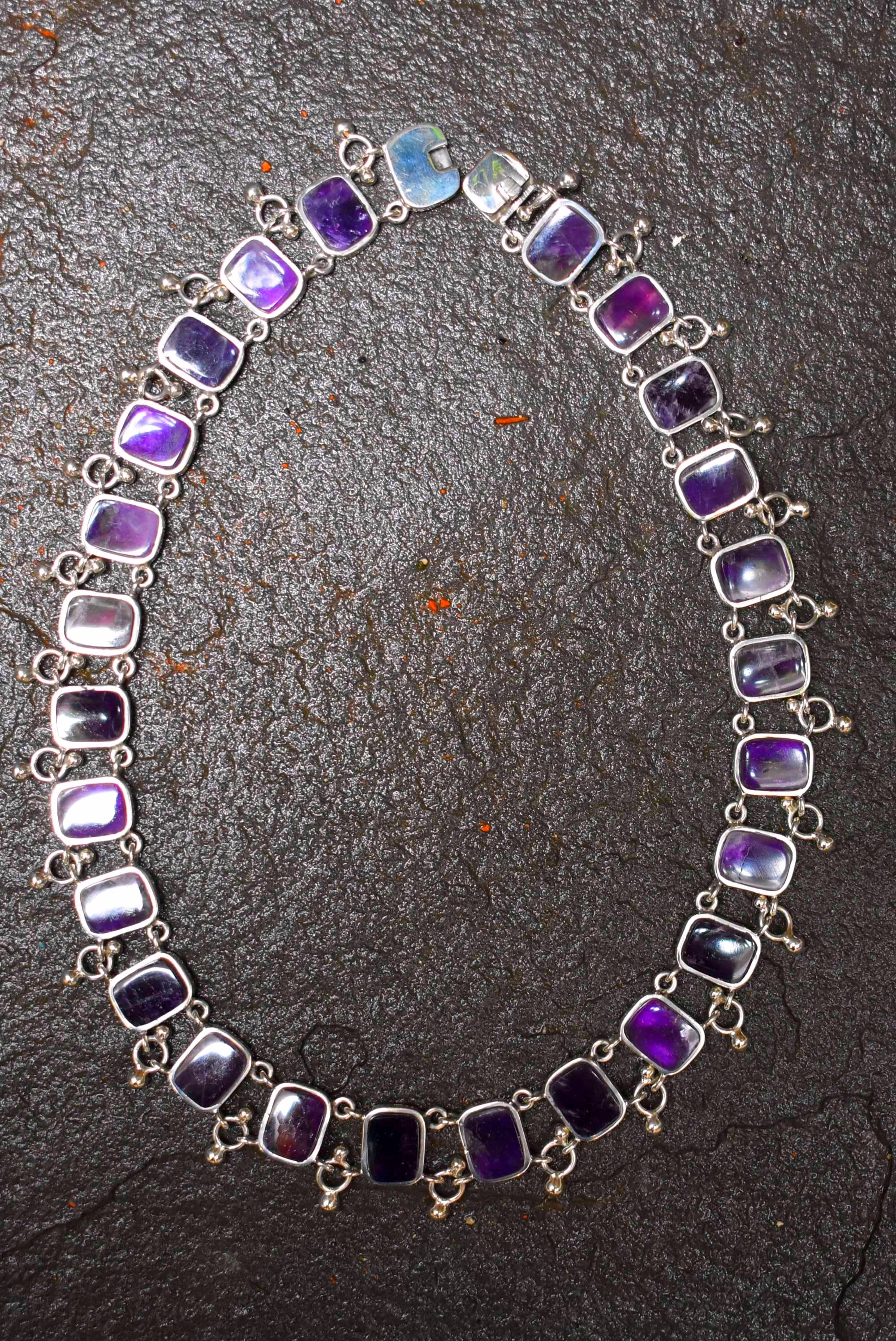 Spratling Silver and Amethyst Necklace