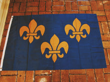 Load image into Gallery viewer, Three Fleur De Lis Flag