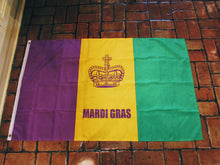 Load image into Gallery viewer, Mardi Gras Flag