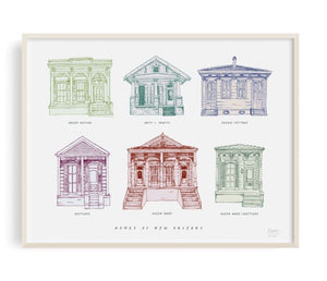 Homes of New Orleans Art Print