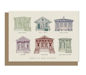 Homes of New Orleans Blank Card