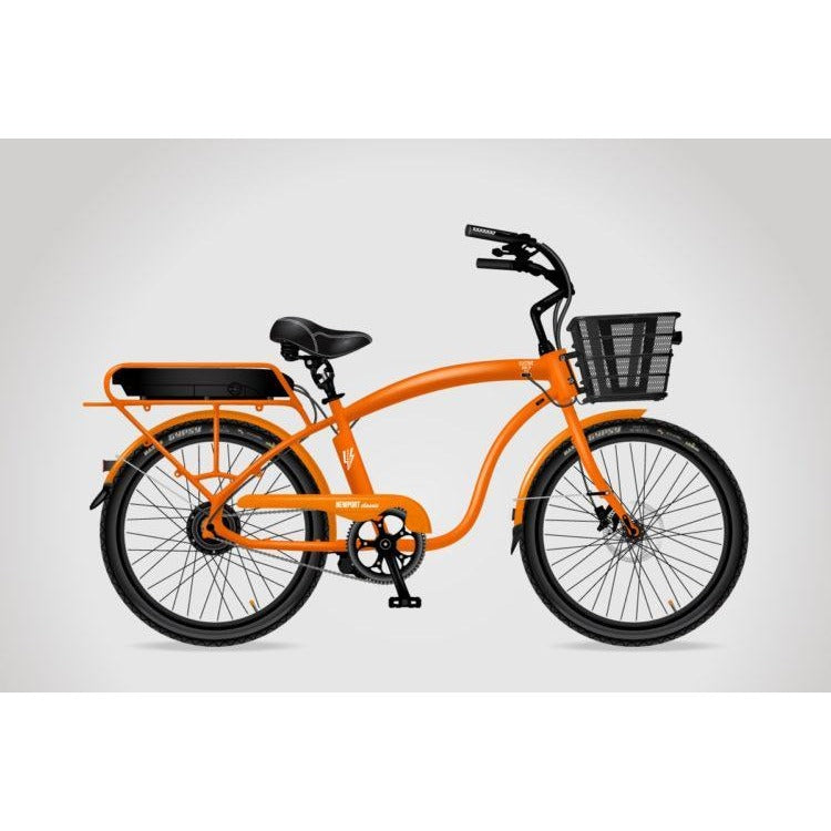 Orange Classic With Black Rims and Basket - electricwheelz