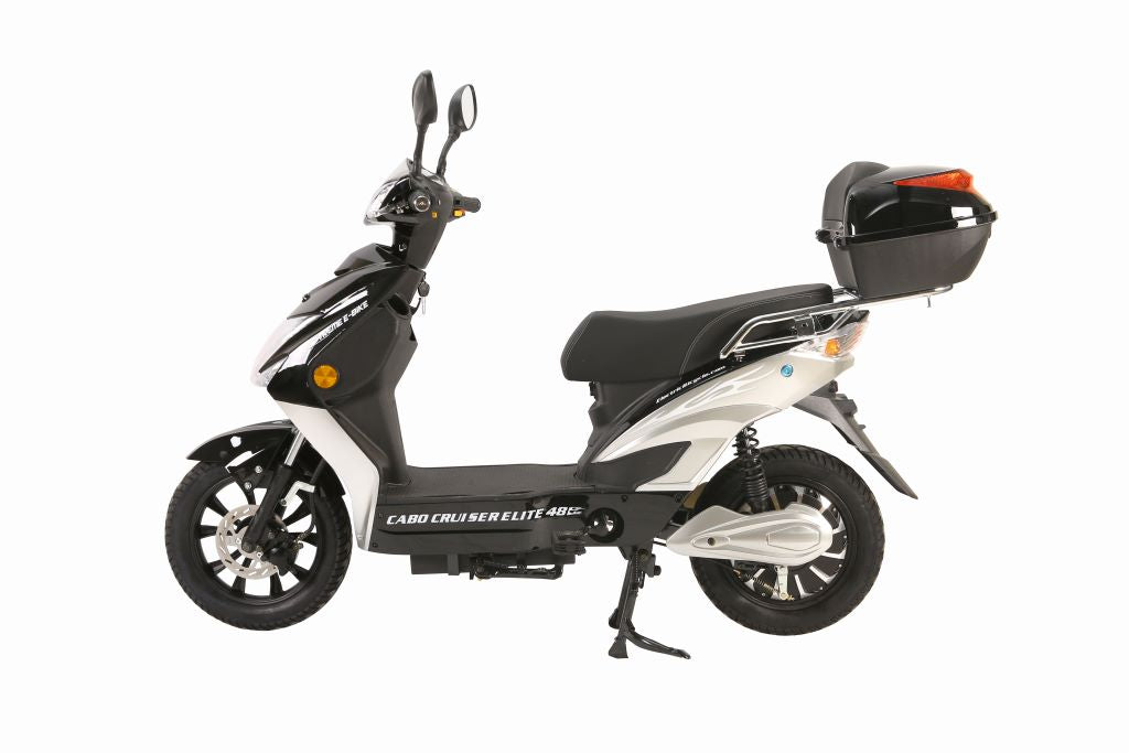 X Treme Cabo Cruiser Elite 48v Electric Moped With Storage Electric Wheelz