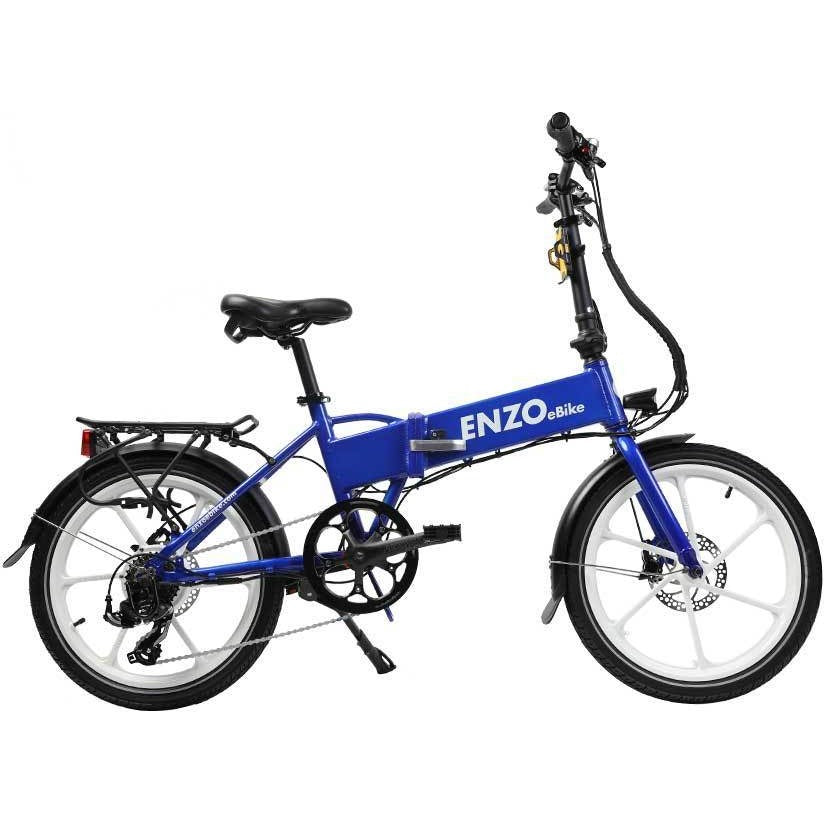 Enzo Folding Electric Bike - Seven Speed Chain / Fixed Belt Gear Drive - electricwheelz