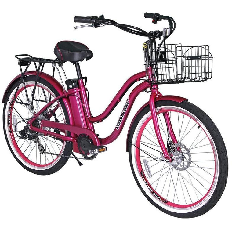 X-Treme Malibu Elite Beach Cruiser Electric Bike - electricwheelz